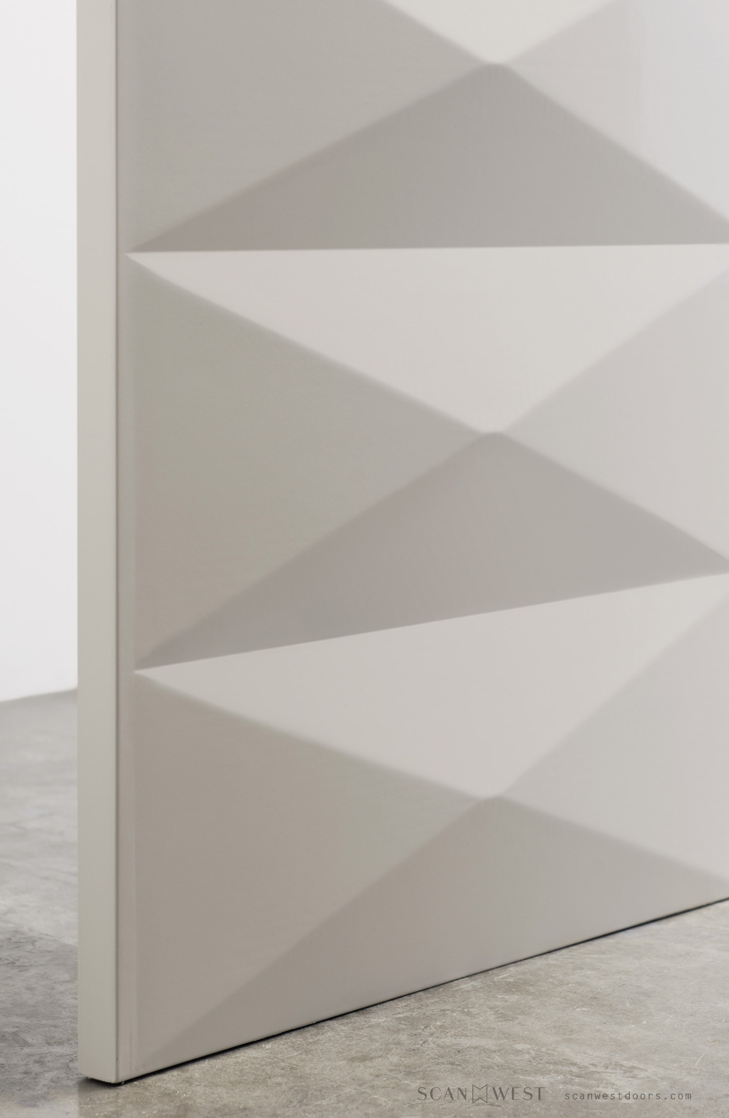 ScanWest Doors - DECO - Exterior & Interior Door - Texture Profile in White Lacquer