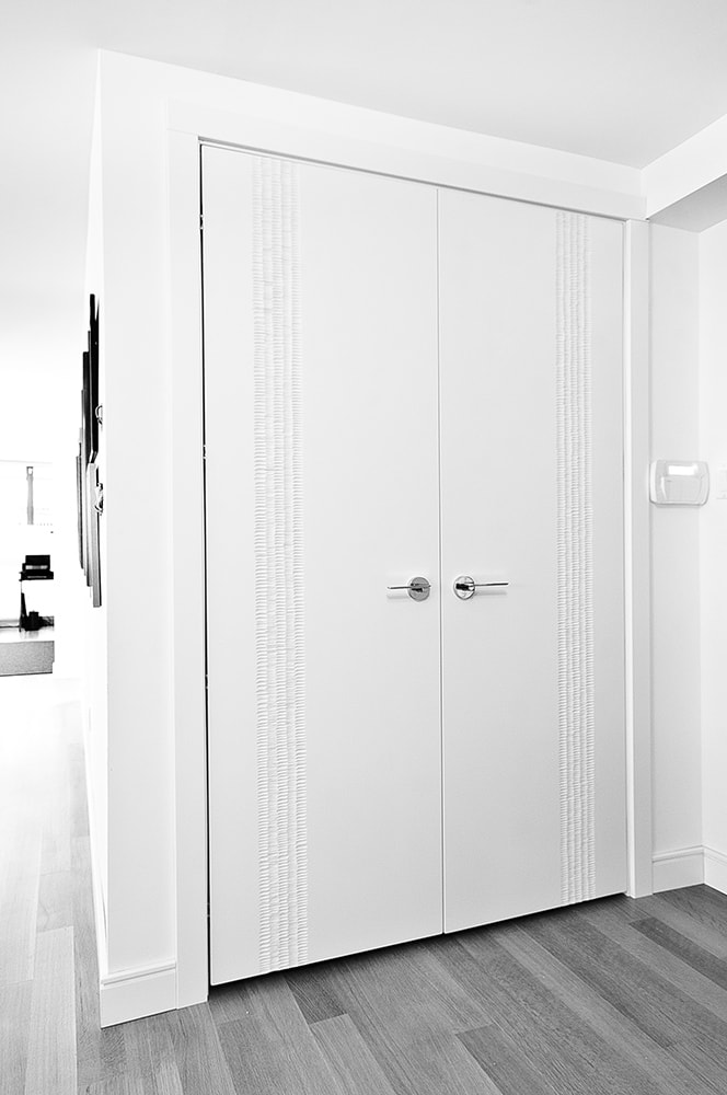 ScanWest Doors - CARBON - Hall Closet Door in White Lacquer