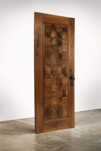 CAPRON - Designer Front Entrance Door in walnut