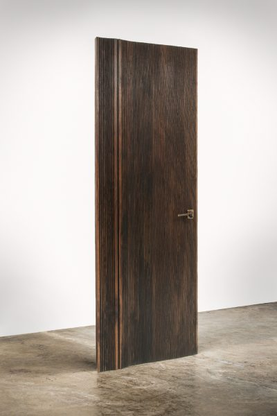 DIVIDE walnut designer front entrance door