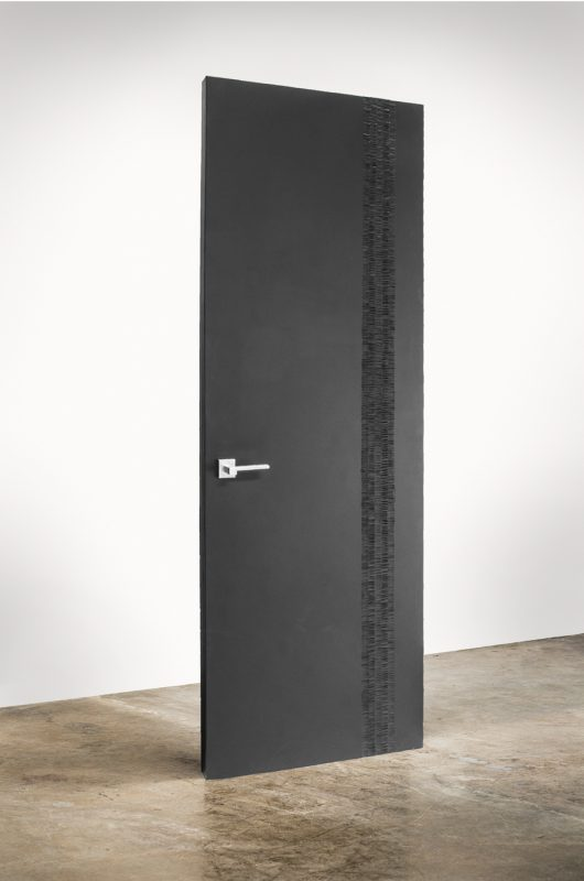 CARBON designe door interior in black handcarved
