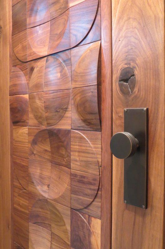 Capron - Exterior Door Walnut with Bronze handle