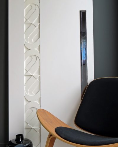 WEGNER - Modern Designer Pocket Door WIth Flush Polished Chrome Pull