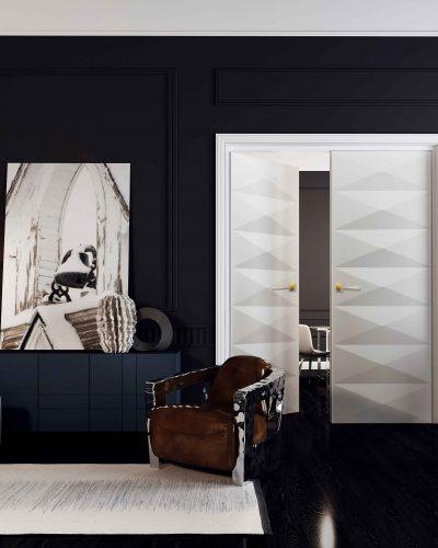 ScanWest Doors - Art Deco Inspired Contemporary Interior Double Door Entrance